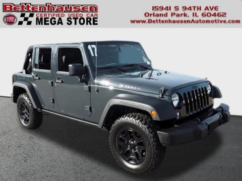 Certified Pre-Owned 2017 Jeep Wrangler Unlimited Willys Wheeler